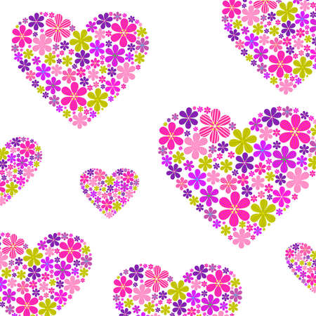 glades: floral heart on a white background,vector illustration