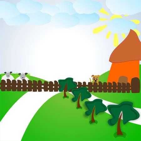 rural landscape: rural landscape warm day