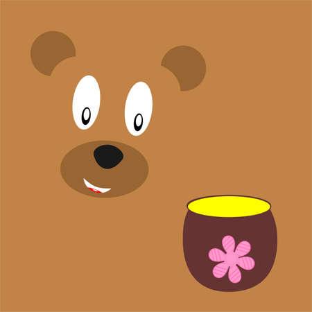 bruin: Bruin bear and honey Illustration