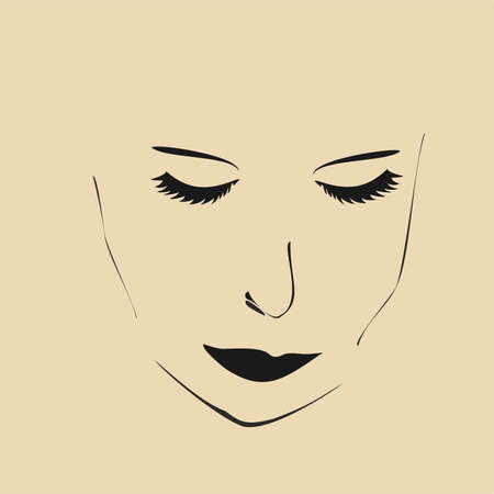 thoughtfulness: thoughtfulness on his face,vector illustration