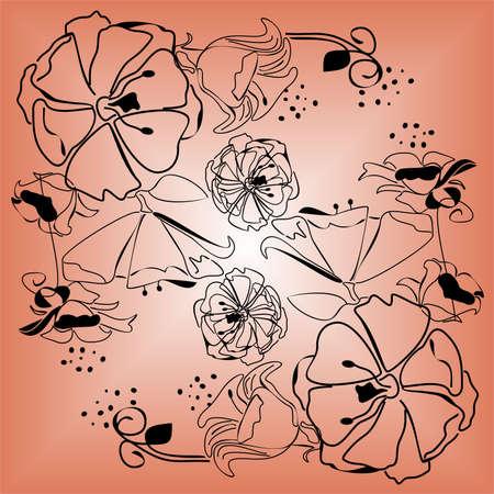 autumn background: flowers autumn background ,vector illustration Illustration