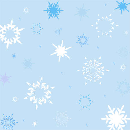 blizzards: winter background made of snowflakes,vector illustration Illustration