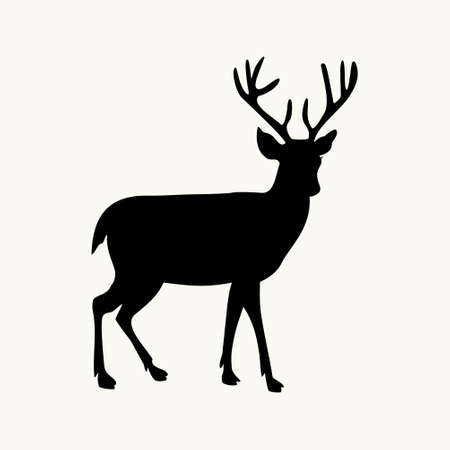 hoofed mammal: deer icon on the background,vector illustration