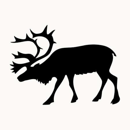 hooves: deer image on the background,vector illustration