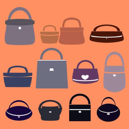 designer bag: women bag vector illustration
