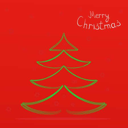 snow cone: Christmas card,Rozhdestvenskiy fir-tree,vector illustration