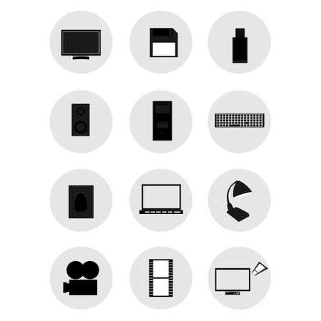 tv unit: icons,technology ,vector illustration