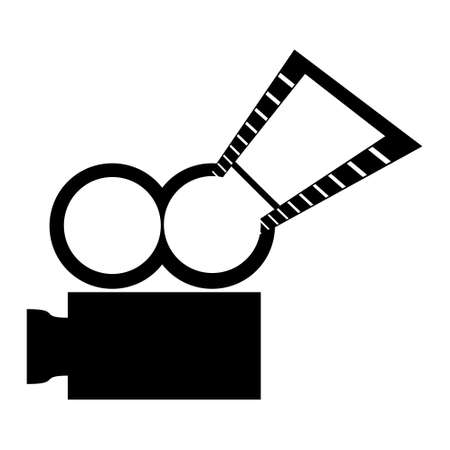 tv unit: video camera,vector illustration
