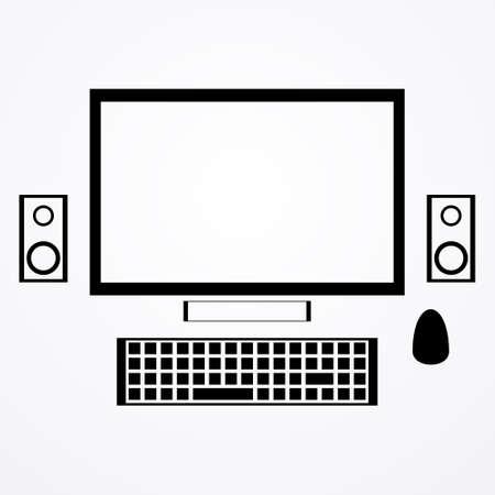 tv unit: computer technologies,vector illustration Illustration