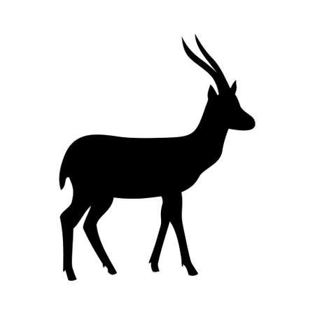 Hertenpictogram, ontwerpillustratie op een witte achtergrond. Stockfoto - 88290186