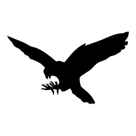 Falkenikone, Designillustration auf einem weißen Hintergrund. Standard-Bild - 88290192