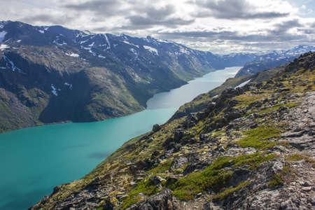 besseggen: Hiking scenic Besseggen in Norway