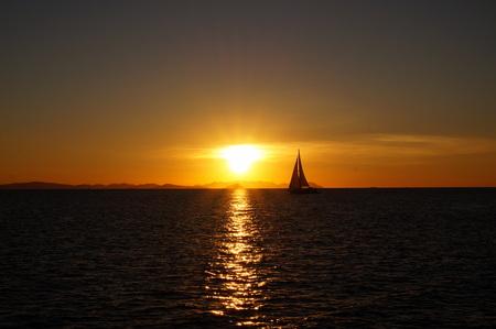 whitsundays: Sunset at the Whitsundays