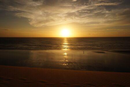 natures: Sunset walk Stock Photo