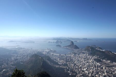 azucar: Sugar loaf view from Corcovado Stock Photo
