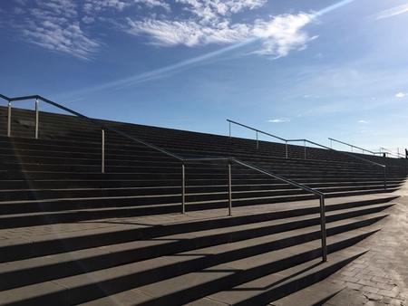 Sky, stairways and sun