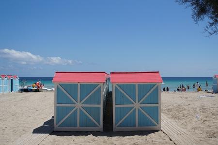 bathe: Beach huts in Mondello