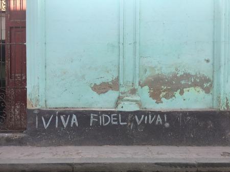 Writing in the streets in Havana, Cuba Stock Photo