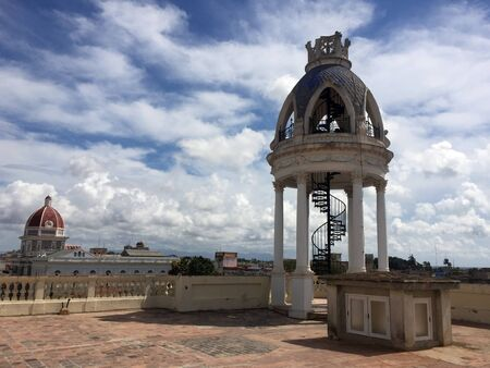 Terrace view with cloudscape, Cienfuegos