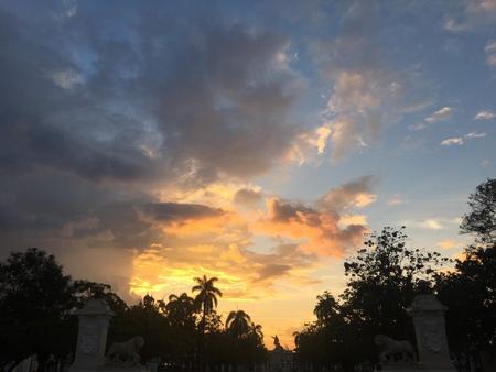 Sunset sky after the rain Stock Photo - 83017988