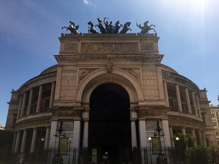 Politeama Theater in Palermo