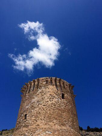 Smoking tower in Mondello Editorial