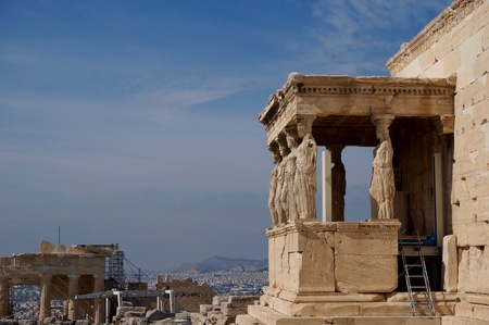 View over the Caryatids in Athens