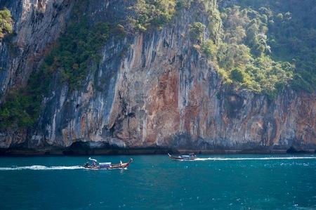 Longtail boat in Phi Phi Island