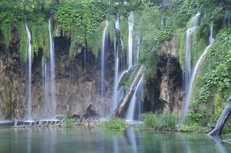 Plitvice lakes National Park, Croatia Archivio Fotografico