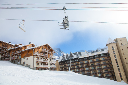 Chalets in Val Thorens, trois vallees complex, France