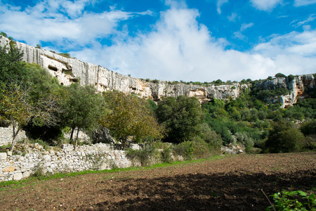 cava: Cava Ispica canyon in Modica, Sicily, Italy