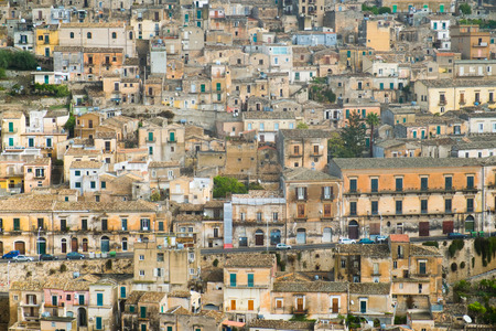 pictoresque: Aerial view of Modica old town, Sicily, Italy