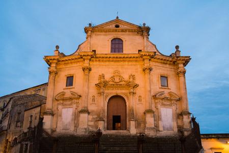 sante: Anime Sante del Purgatorio church in Ragusa Ibla, SIcily, Italy Stock Photo