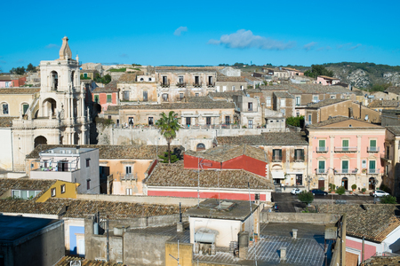 acreide: View of Palazzolo Acreide village close to Ragusa and Modica, SIcily, Italy