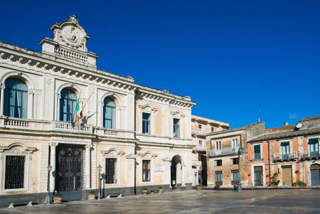 palazzolo: Piazza di Palazzolo Acreide villaggio vicino a Ragusa e Modica, Sicilia, Italia