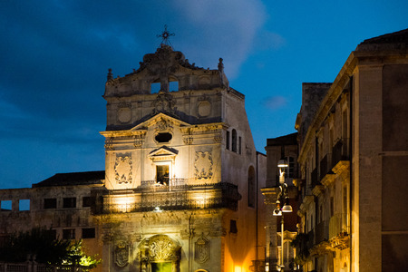 ortigia: St Lucia alla Badia church in Piazza del Duomo, Syracuse Ortigia, Sicily, Italy Stock Photo