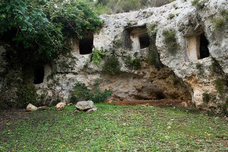 necropolis: Necropolis of Pantalica near Siracusa, Sicily, Italy