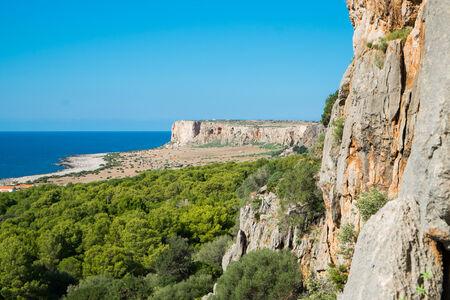 capo: Cliffs in San Vito Lo Capo, Sicily, Italy