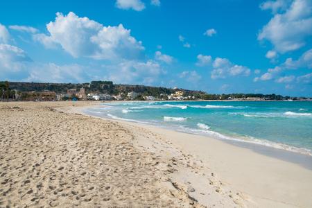 capo: Beach in San Vito Lo Capo, Sicily, Italy Stock Photo