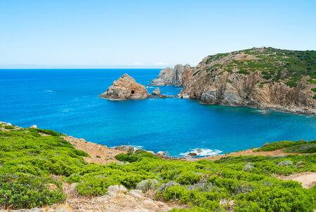 capo: Capo Pecora promontory in Buggerru, west Sardinia, Italy