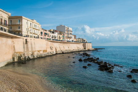 syracuse: Syracuse Ortigia seafront, Sicily, Italy