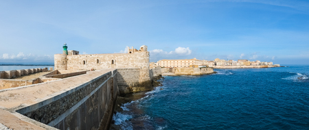 Maniace castle in Syracuse Ortigia, Sicily, Italy