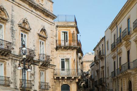 syracuse: Street in Syracuse Ortigia, Sicily, Italy