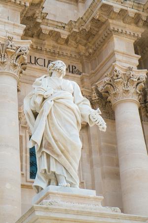 ortigia: Architecture detail of the Cathedral in Syracuse Ortigia, Sicily, Italy