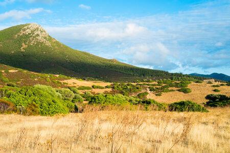 west  coast: Landscape in Capo Pecora, Sardinia west coast, Buggerru, Italy Stock Photo