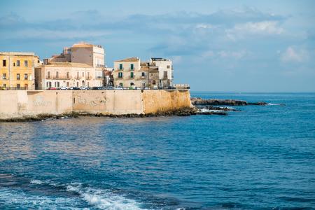 ortigia: Syracuse Ortigia seafront, Sicily, Italy