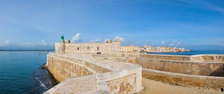 syracuse: Maniace castle in Syracuse Ortigia, Sicily, Italy