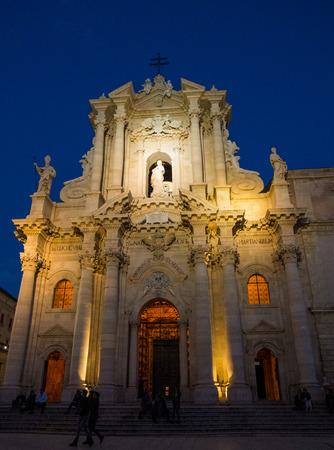 ortigia: Cathedral in Syracuse Ortigia, Sicily, Italy Stock Photo