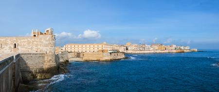 seafront: Maniace castle in Syracuse Ortigia, Sicily, Italy