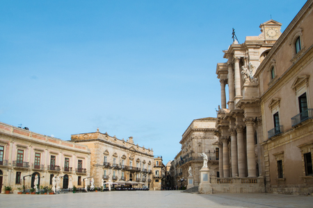 ortigia: Duomo square in Syracuse Ortigia, Sicily, Italy